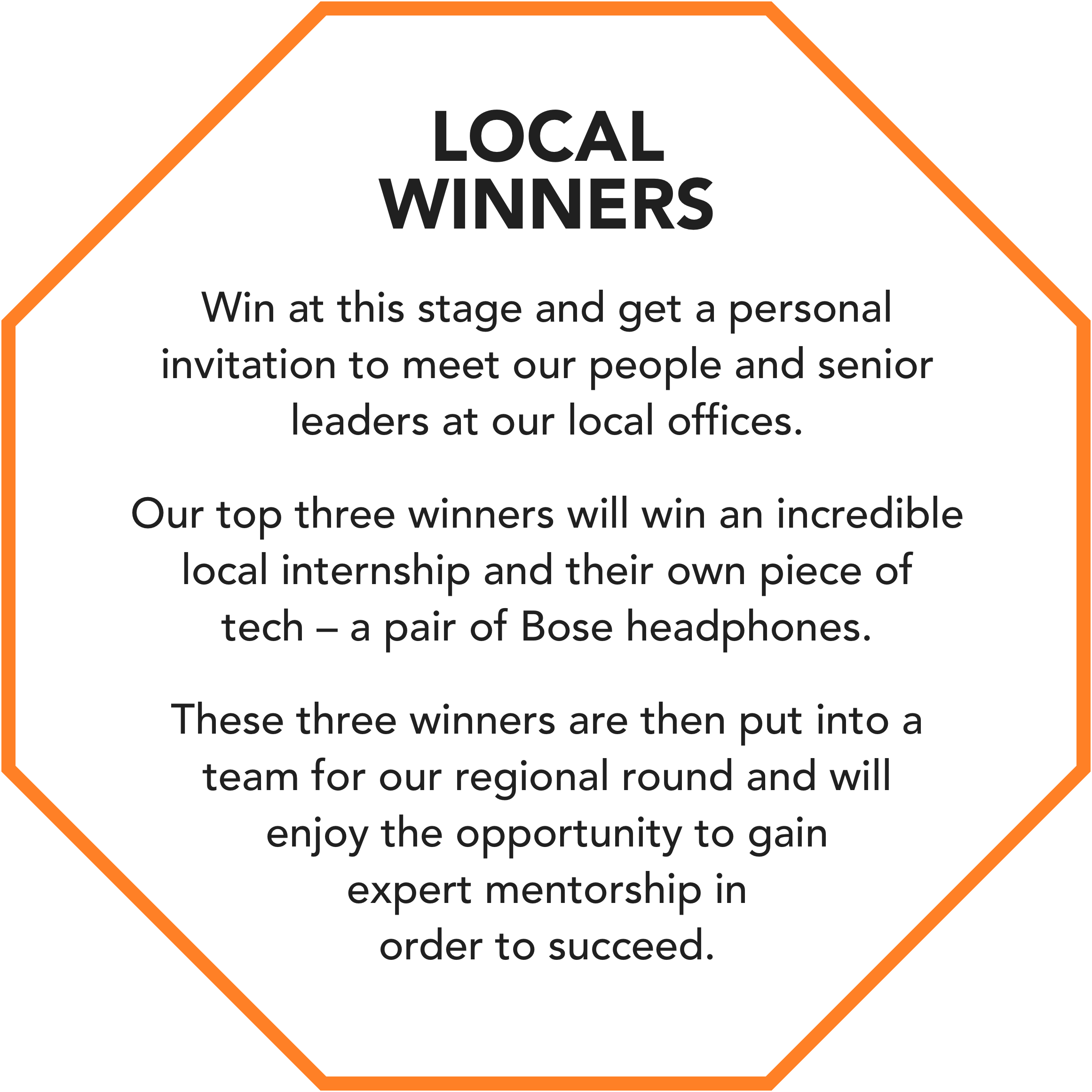 Local winners image representing prizes available
